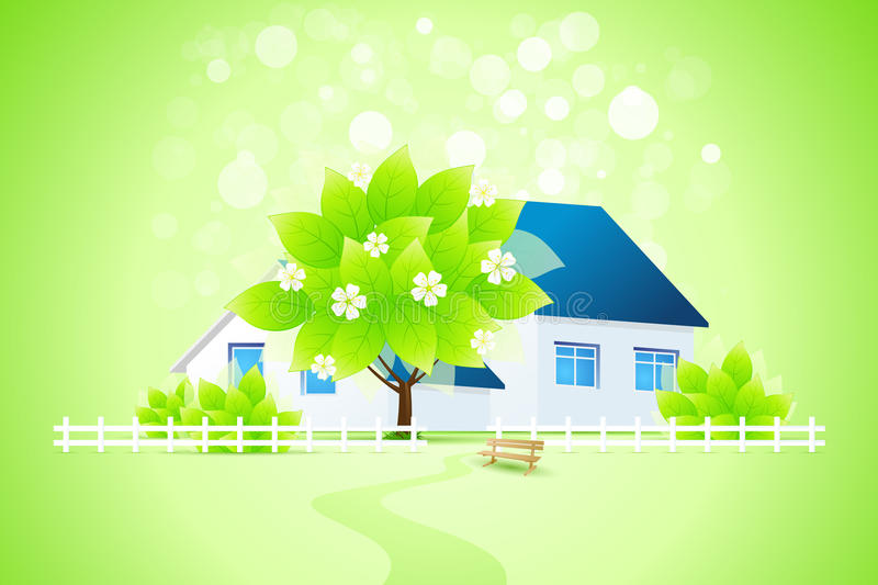 Download Green Home With Tree Stock Photo - Image: 28850010