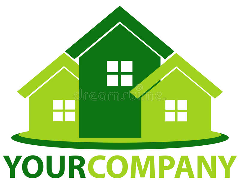 Green home stock illustration