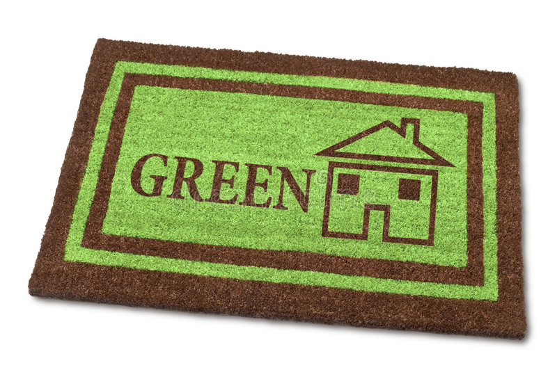 Download Green Home Welcome Mat Sustainable Royalty Free Stock Photography - Image: 8778737