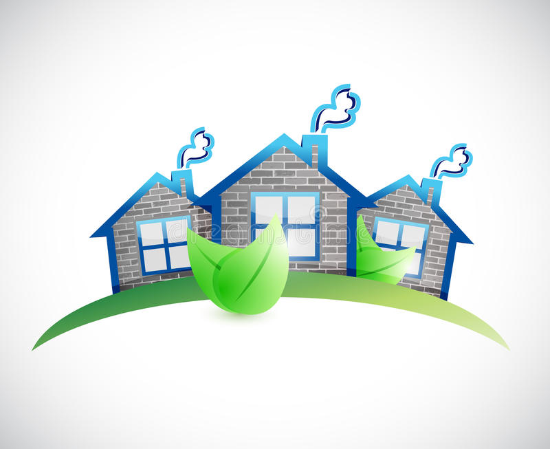Green Homes Real Estate Symbol Illustration Stock Illustration ...