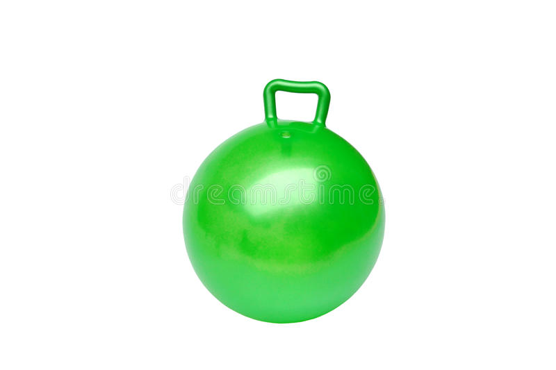 Green hopper ball royalty free stock photo