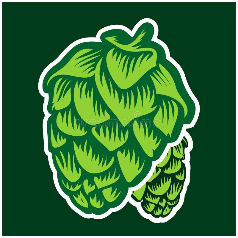Green hops stock illustration