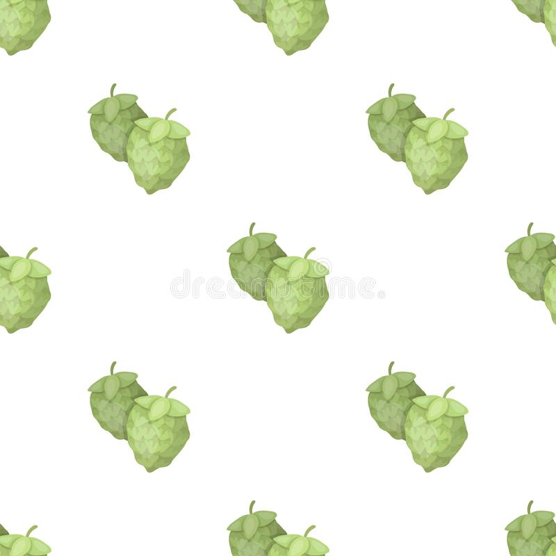 Green hops. Plant for brewing beer. The main component of beer. Pub pattern icon in cartoon style vector symbol stock. Web illustration stock illustration
