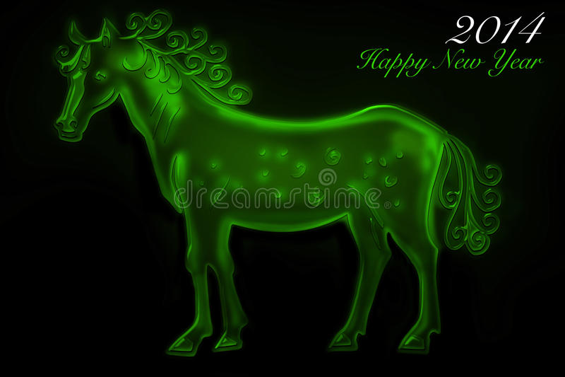 Download Green Horse 2014 stock illustration. Image of abstract - 36635645
