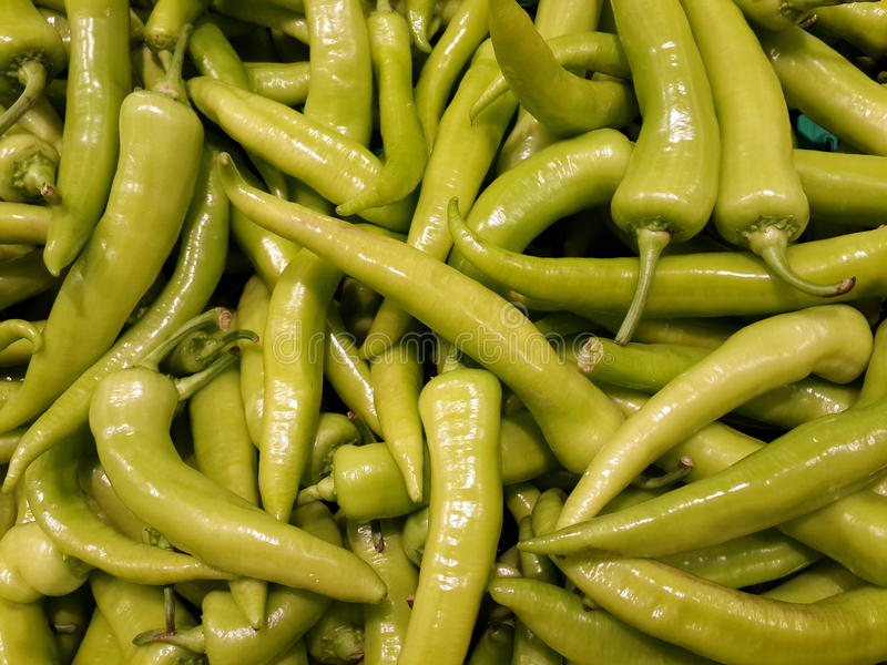 Green Hot Chili Pepper stock photo