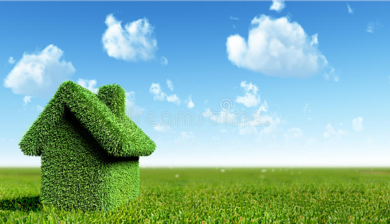 Download Green house stock illustration. Image of house, exterior - 13855467