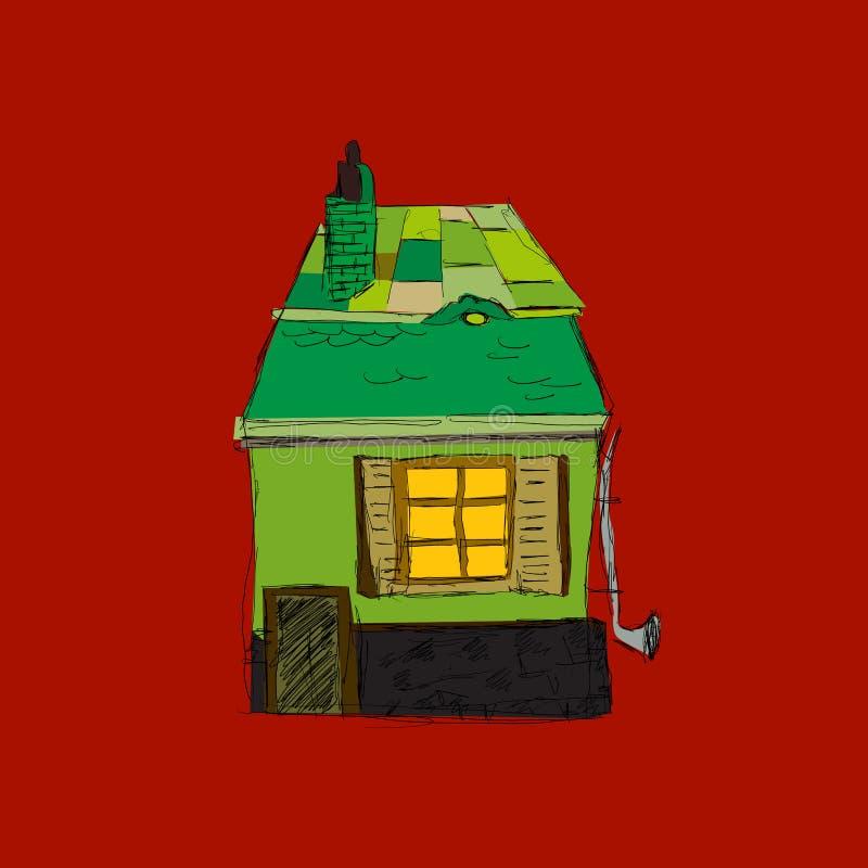 Download Green house stock vector. Illustration of door, model - 27322103