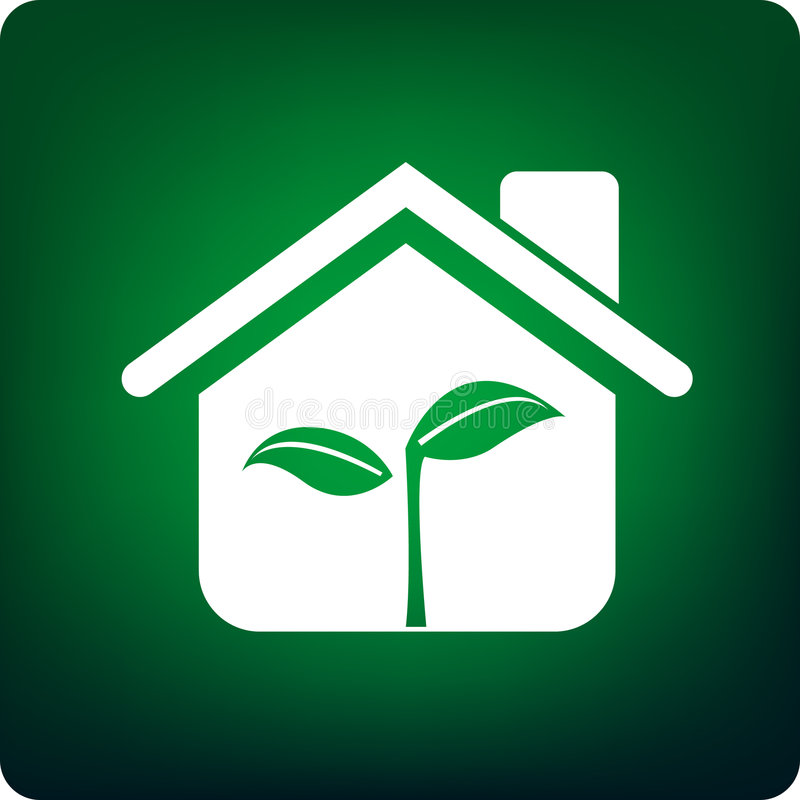 Green house royalty free illustration