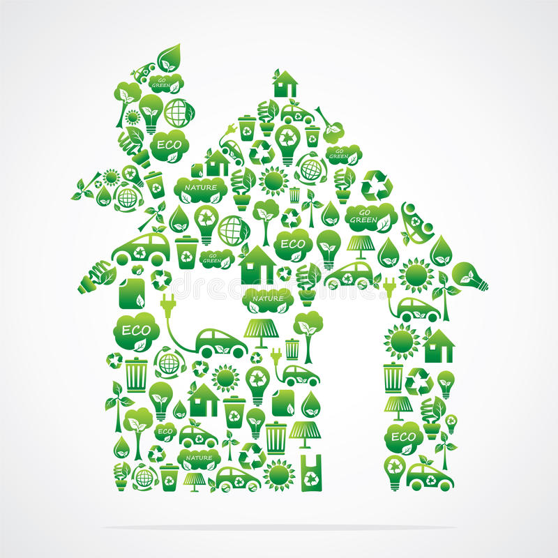 Green house is design with eco nature icons vector illustration