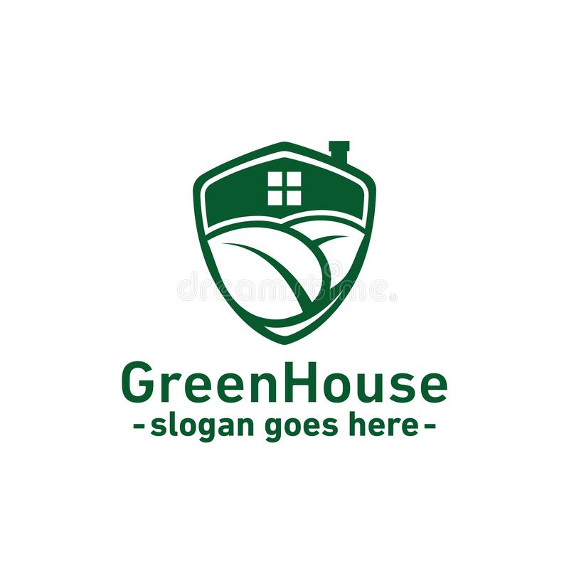 Green house design template. Vector and illustration. stock illustration