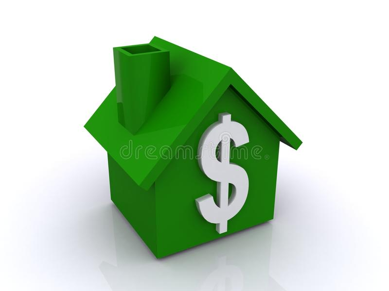 Green house with dollar sign vector illustration