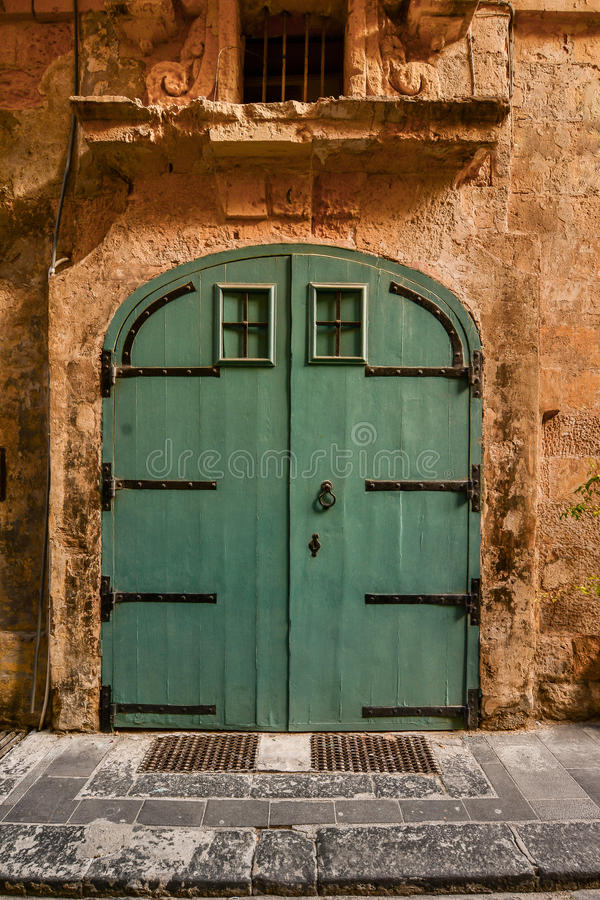 Green House door in Malta stock photography