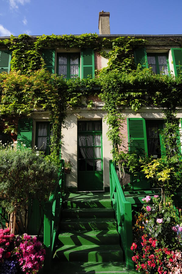 Green house with flowers and plant royalty free stock images