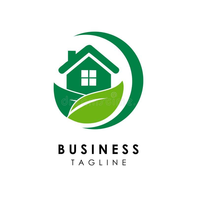 Green house logo template design vector icon illustration. Architect, business, project, designs, construction, blueprint, designer, plan, drawing stock illustration