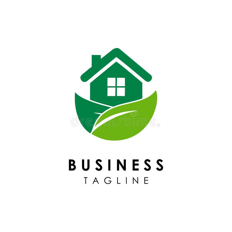 Green house logo template design vector icon illustration. Architect, business, project, designs, construction, blueprint, designer, plan, drawing royalty free illustration