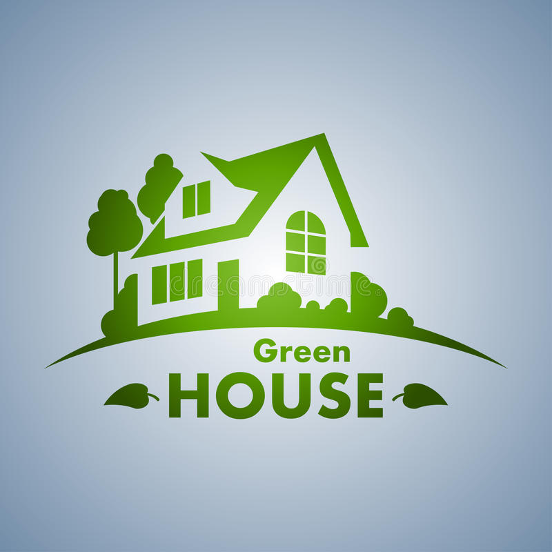 Green House. Logo in vector