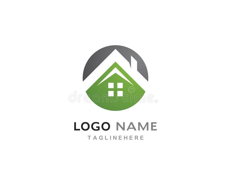 Green house logo vector royalty free illustration