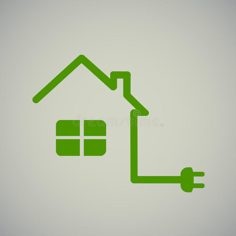 Green house with socket royalty free illustration