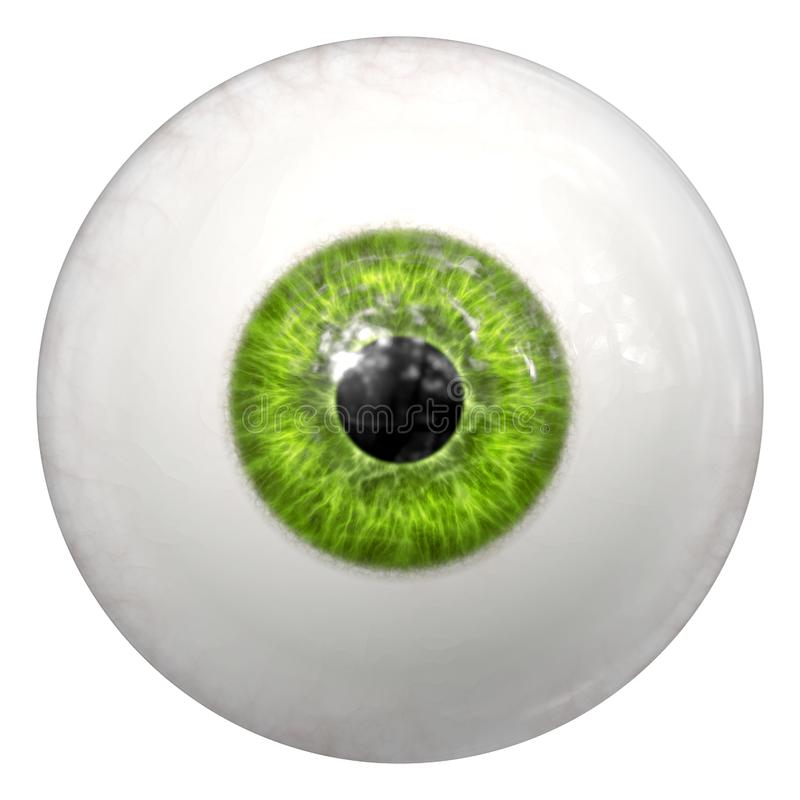 green human eye ball stock illustration