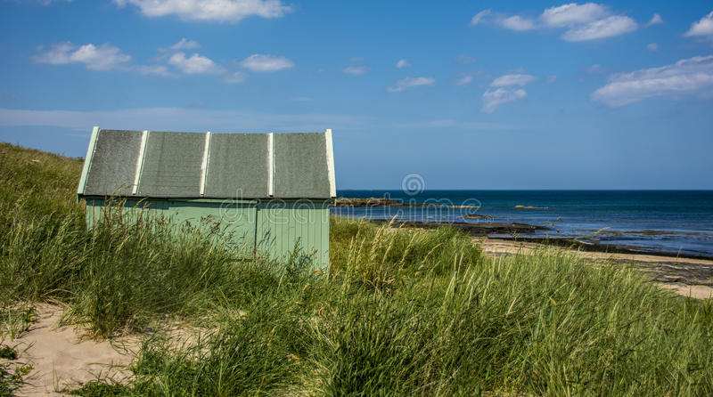 Download Green Hut by the Sea stock photo. Image of northumberland - 32665962