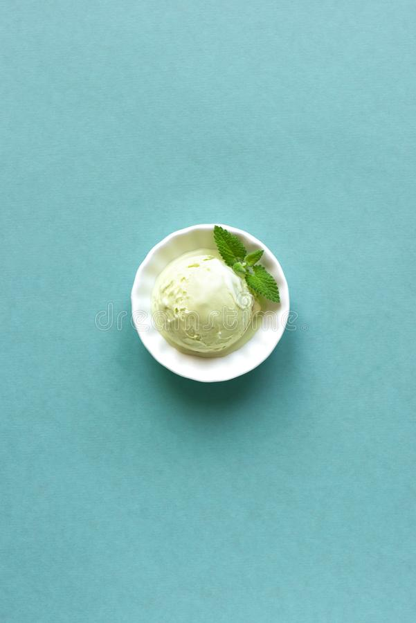 Green Ice Cream stock photos