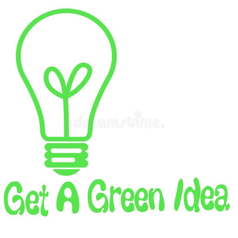 Green idea light-bulb royalty free illustration