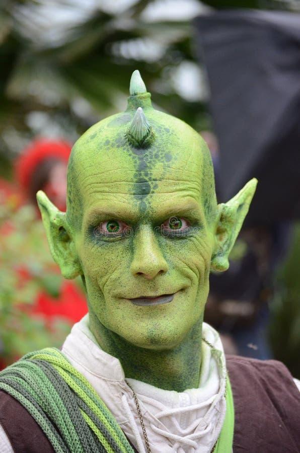 Green imp elf goblin kobold hob woodelf stock photos