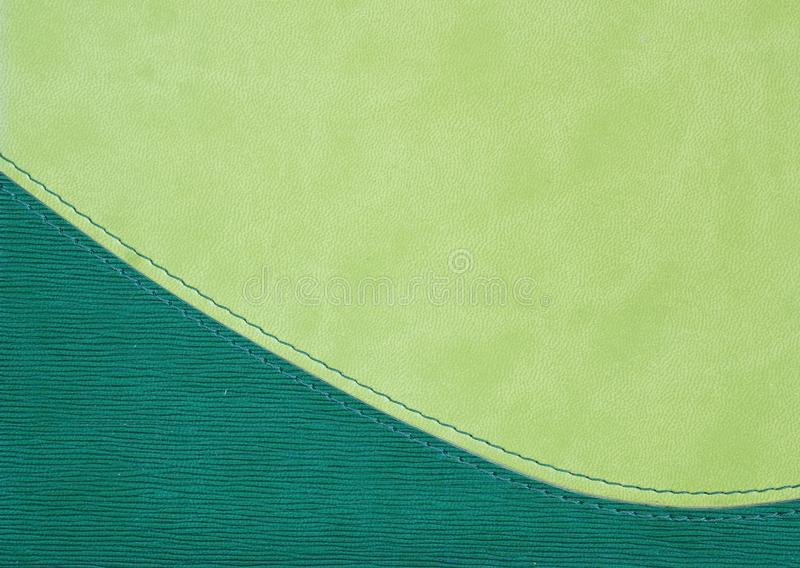 Imprinted cover of the daily log. Green imprinted cover of the daily log stock images