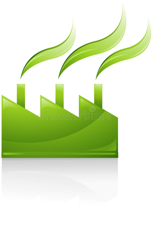 Download Green industrial factory stock vector. Image of building - 14579460