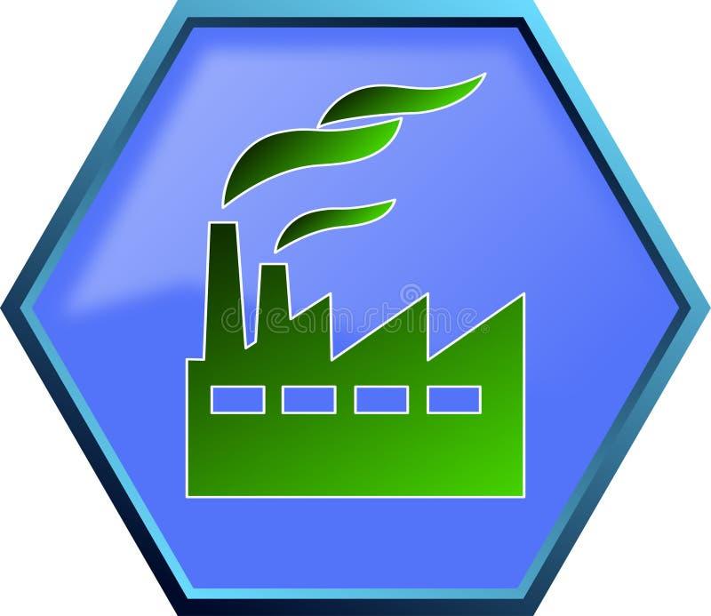 Green industry icon stock illustration. Illustration of ...