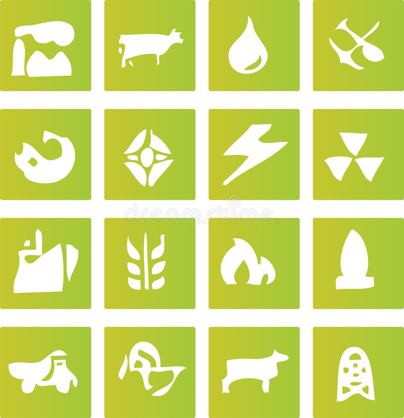 Free Green Industry Icons Royalty Free Stock Image - 6032236
