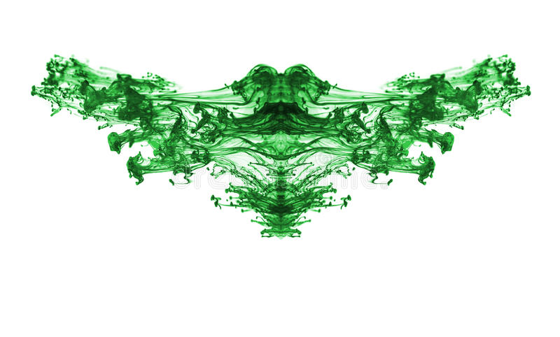 Green ink. royalty free stock photography