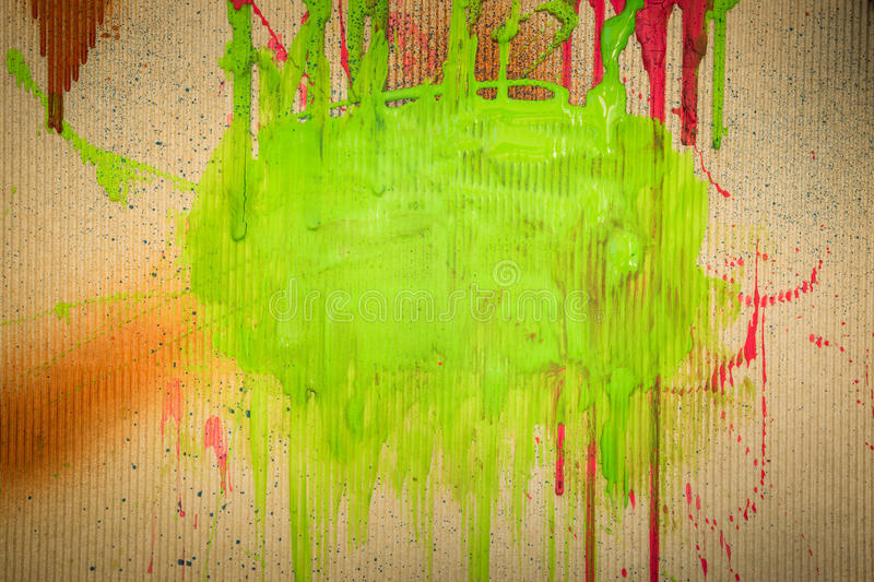 Green ink splash. On the paper royalty free stock photo