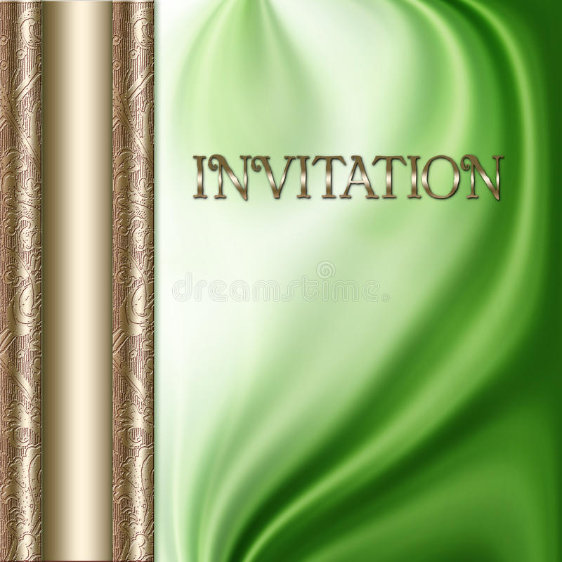 Green Invitation stock image