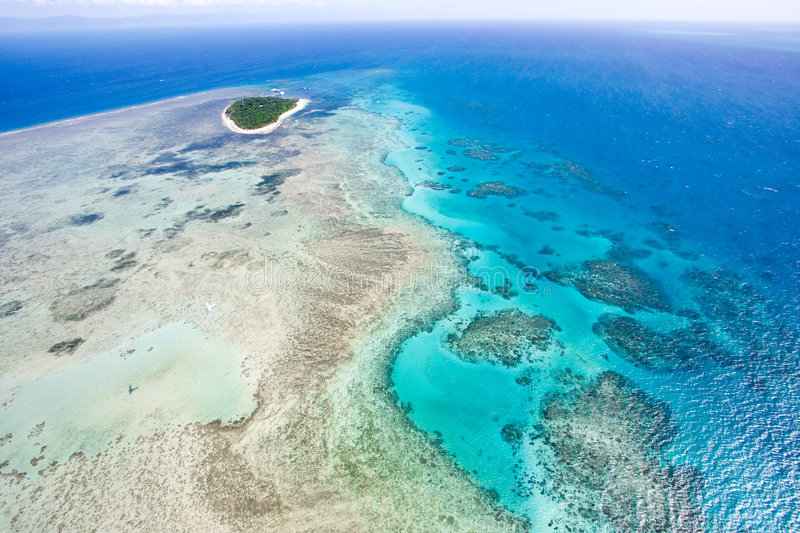 Green Island from above royalty free stock photo
