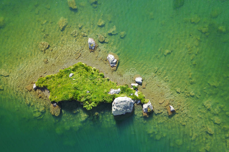 Green island from above royalty free stock photography