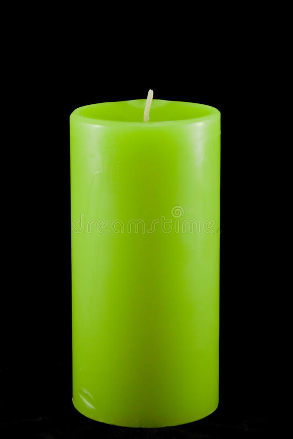 Green Isolated Candle royalty free stock image