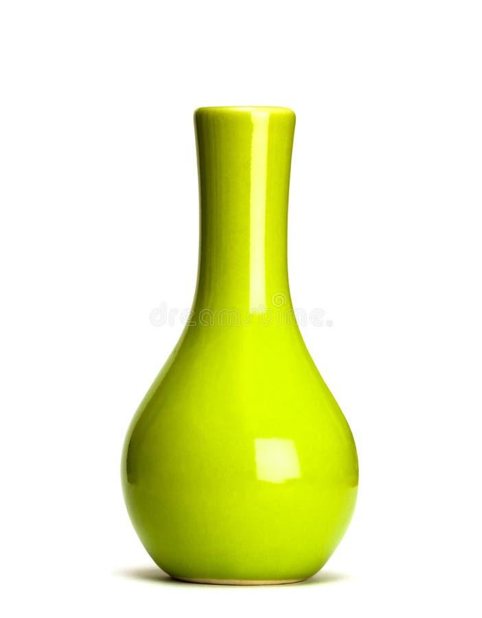 green isolerad vase arkivfoton