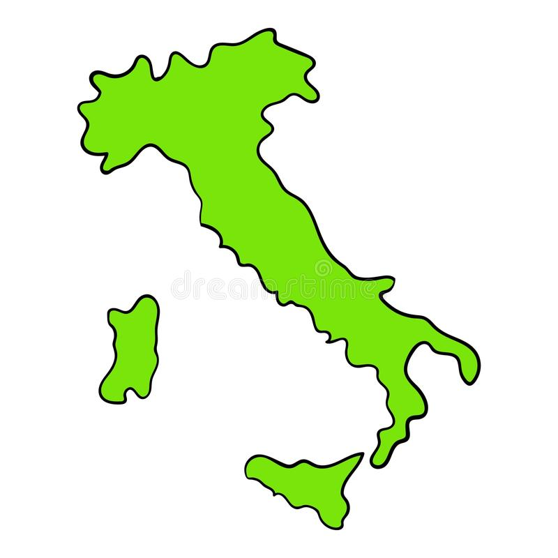Download Green Italy Map Icon Cartoon Stock Vector - Illustration of geography, continent: 88448467