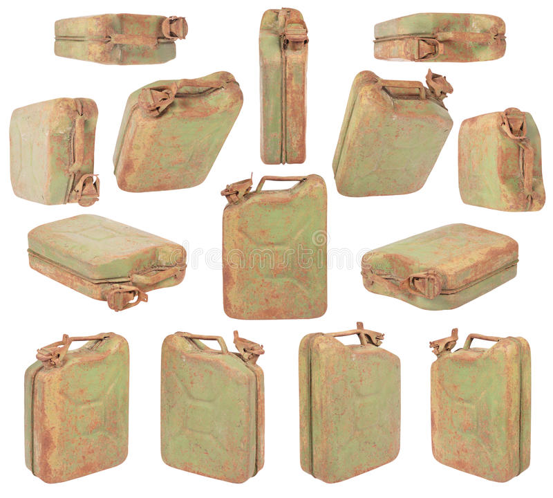Download Green jerrycan stock image. Image of rust, dirt, isolated - 19723195