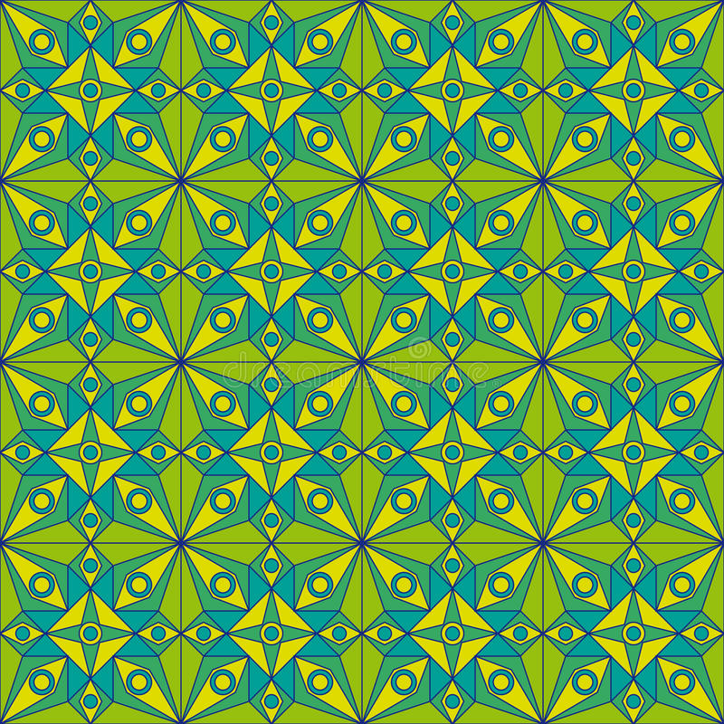 Download Green Jugendstil Pattern stock illustration. Image of ornate - 33935829