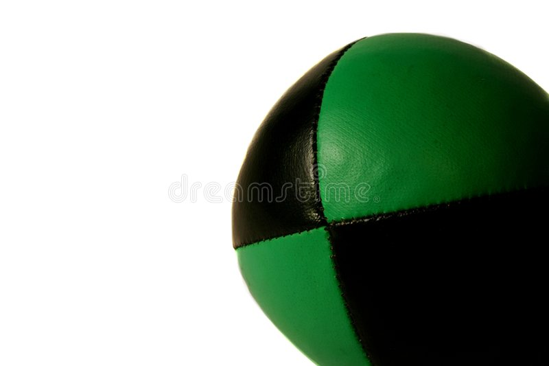 Green Juggling ball royalty free stock photos