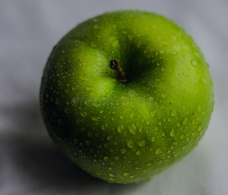 Green juicy apple stock photo