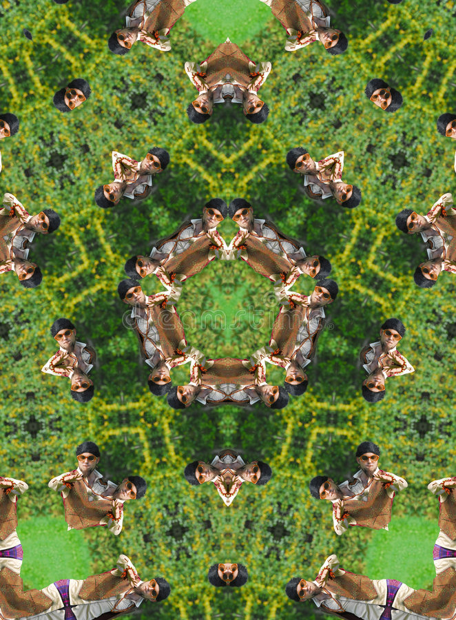 Green kaleidoscope royalty free stock photography