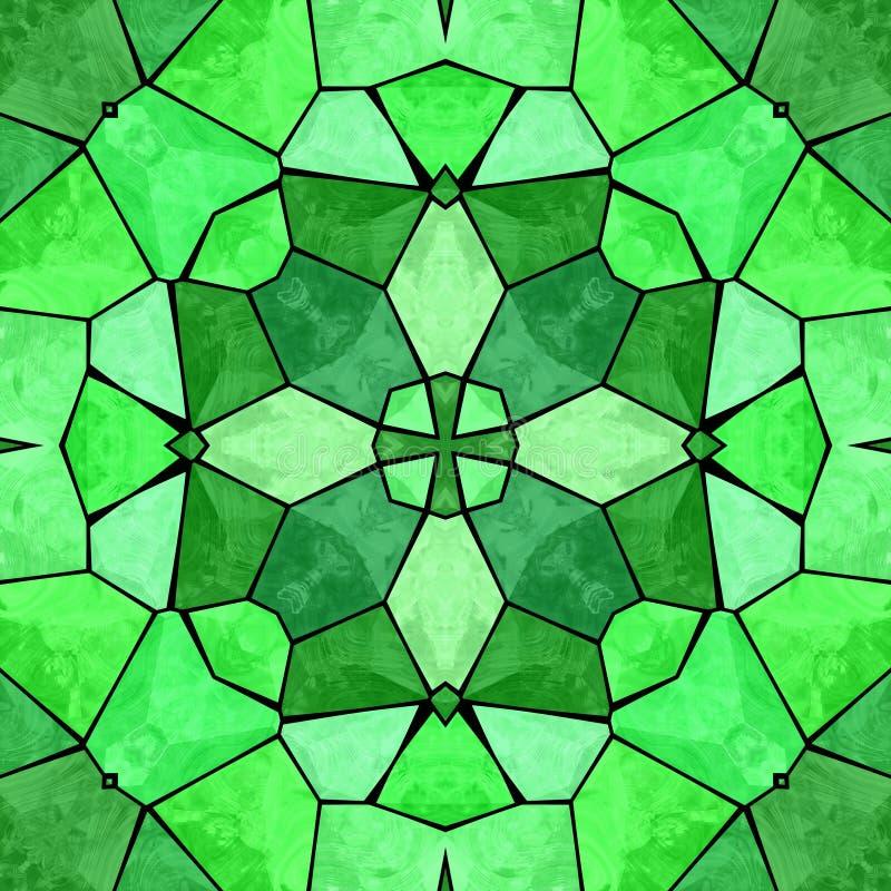 Green kaleidoscopic multicolor abstract pattern stock photo