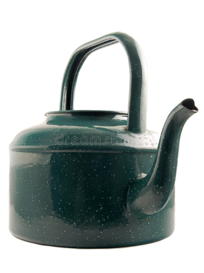 Green kettle stock images