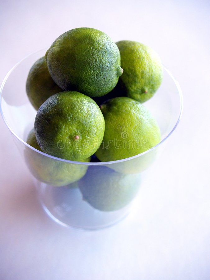 Download Green Key Limes In A Clear Cup Stock Image - Image: 830067