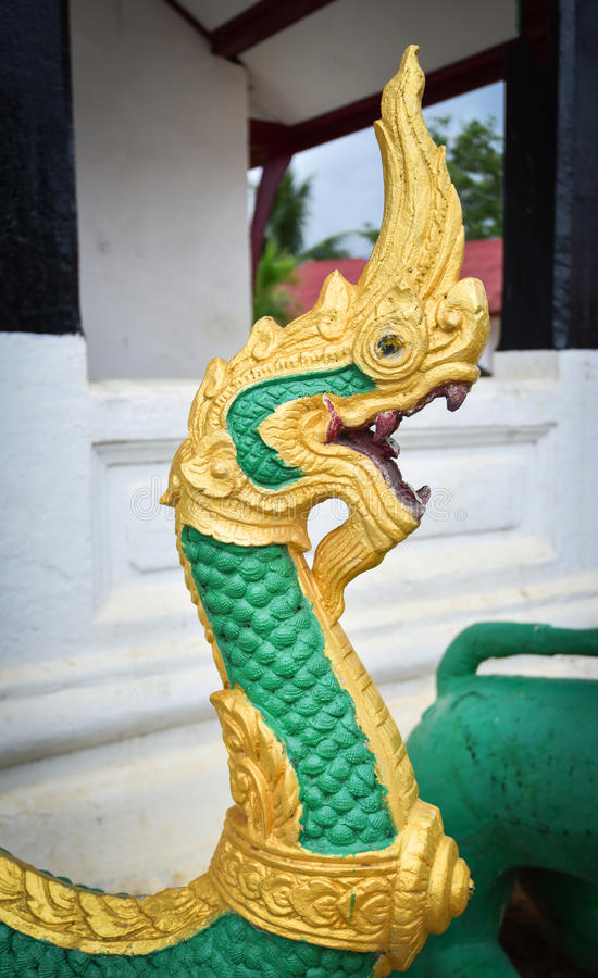 Green king of nagas stock photo