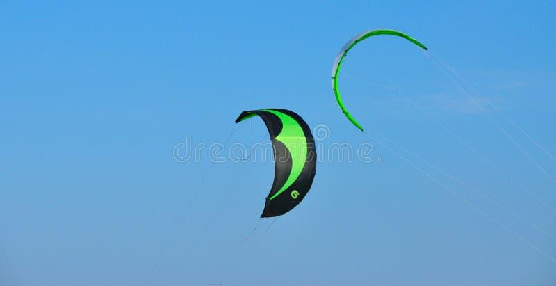 Green kites stock photos