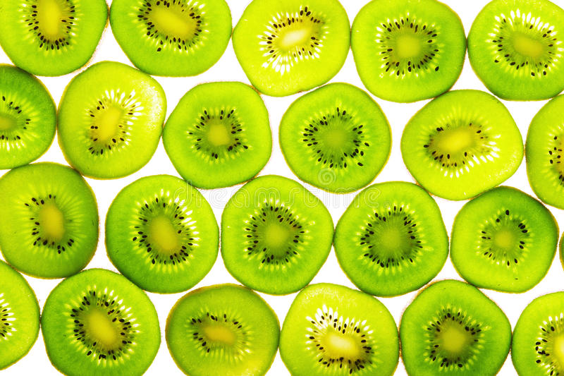 Download Green kiwi slices stock photo. Image of wallpaper, circle - 11383262